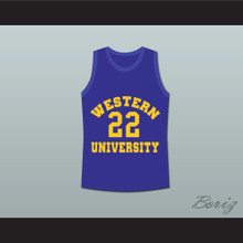 Anfernee Hardaway Butch McRae Western University Blue Basketball Jersey Blue Chips Movie
