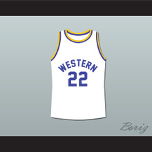 Anfernee Hardaway Butch McRae Western University White Basketball Jersey Blue Chips Movie