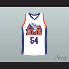 Thad Castle 54 Blue Mountain State Goats Basketball Jersey Stitch Sewn