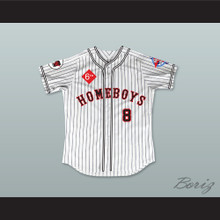 Belle 8 Homeboys Pinstriped Baseball Jersey 6th Annual Rock N' Jock Softball Challenge 1995