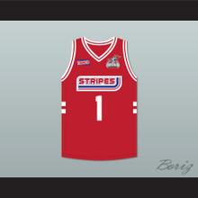 P Diddy 1 Stripes Basketball Jersey Rock N' Jock All Star Jam 2002