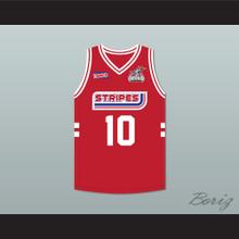 Wally Szczerbiak 10 Stripes Basketball Jersey Rock N' Jock All Star Jam 2002