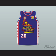 Gary Payton 20 Bricklayers Basketball Jersey 7th Annual Rock N' Jock B-Ball Jam 1997