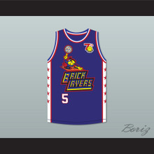 Bill Walton 5 Bricklayers Basketball Jersey 7th Annual Rock N' Jock B-Ball Jam 1997