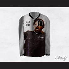 Ice Cube 10 Westside White Hockey Jersey
