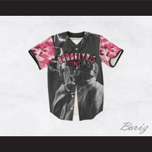 Biggie Smalls 21 Pink Camouflage Brooklyn's Finest Baseball Jersey