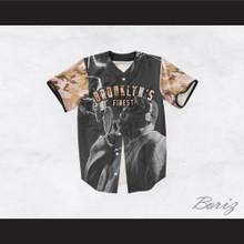 Biggie Smalls 21 Tan Camouflage Brooklyn's Finest Baseball Jersey