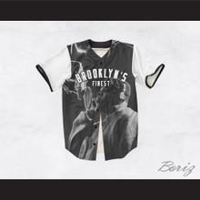 Biggie Smalls 21 White Sleeve Brooklyn's Finest Baseball Jersey
