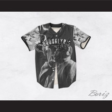 Biggie Smalls 21 Gray Camouflage Brooklyn's Finest Baseball Jersey