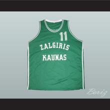 Arvydas Sabonis Zalgiris Kaunas Basketball Jersey Green
