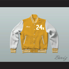 Hooligans 24 K Gold and White Varsity Letterman Jacket-Style Sweatshirt