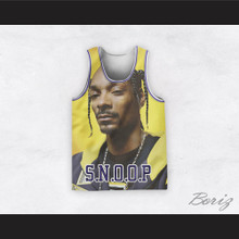 Snoop Dogg 12 Braids Yellow Basketball Jersey