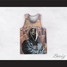 Tupac Shakur 1 I Get Around Cityscape Basketball Jersey