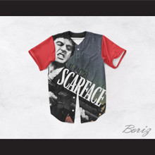 Al Pacino Tony Montana 8 Scarface Night Sky Baseball Jersey