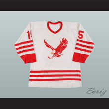 1972 WHA Miami Screaming Eagles 15 White Hockey Jersey