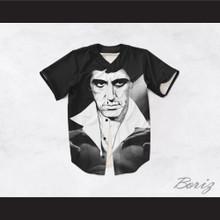 Tony Montana Scarface 20 Black and White Body Baseball Jersey