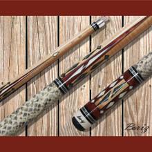 Boriz Billiards Pool Cue Stick Classic Style Serpent Skin AB 115