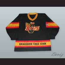 Les Boys Black Hockey Jersey with Molson Beer Patch