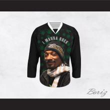Snoop Dogg 20 I Wanna Rock Cannabis Hockey Jersey Design 1