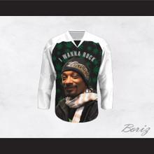 Snoop Dogg 20 I Wanna Rock Cannabis Hockey Jersey Design 2