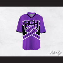 Rancho Carne High School Toros Male Cheerleader Purple Uniform