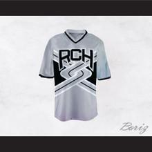 Rancho Carne High School Toros Male Cheerleader Gray Uniform