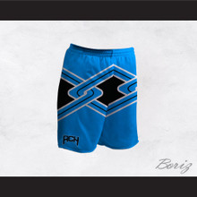 Rancho Carne High School Toros Male Cheerleader Light Blue Uniform Shorts
