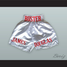 James 'Buster' Douglas White Boxing Shorts
