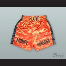 Floyd 'Money' Mayweather Jr. Orange Boxing Shorts