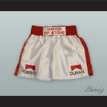 Roberto 'Hands of Stone' Duran Red/White Boxing Shorts