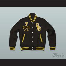 V. Stone G.C.U. Black Varsity Letterman Jacket-Style Sweatshirt Cyborg