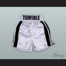 Erik 'The Terrible' Morales White Boxing Shorts