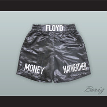 Floyd Mayweather Jr  Black Boxing Shorts