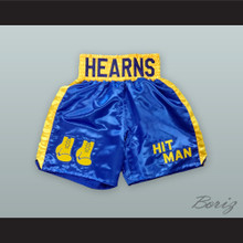 Tommy 'The Hitman' Hearns Blue Boxing Shorts