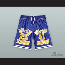 Carlton Banks 25/ Will Smith 41 Bel-Air Academy Blue Basketball Shorts