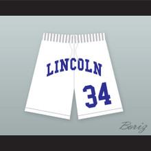 Jesus Shuttlesworth 34 Lincoln High School White Basketball Shorts