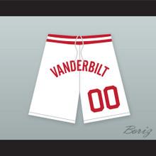 Steve Urkel 00 Vanderbilt Muskrats High School White Basketball Shorts