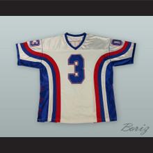 Allen Iverson 3 White Football Jersey