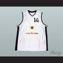 Dirk Nowitzki Germany MVP Basketball Jersey Stitch Sewn