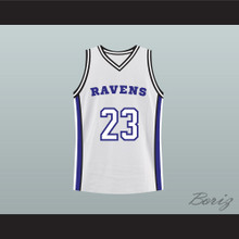 Nathan Scott 23 One Tree Hill Ravens White Original Pilot Basketball Jersey