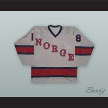 1980 Knut Fjeldsgaard 18 Norway National Team Gray Hockey Jersey