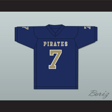 Brandon Bea 7 Independence Community College Pirates Dark Blue Football Jersey