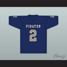Carlos Thompson 2 Independence Community College Pirates Dark Blue Football Jersey