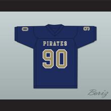 Dantrell Barkley 90 Independence Community College Pirates Dark Blue Football Jersey