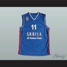 Vladimir Lucic 11 Serbia Basketball Jersey Stitch Sewn