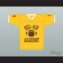 Fresh Prince Will Smith Bel-Air Academy Football Jersey Yellow