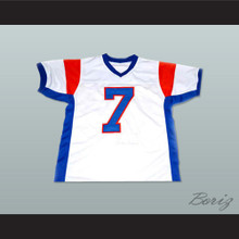 Alex Moran 7 Blue Mountain State Goats Football Jersey White