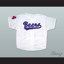 BASEketball Trey Parker Joe Cooper 44 Milwaukee Beers Baseball Jersey Logo Back