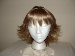 Brown & Blonde Mid-Length Layered Flip w/Full Bangs