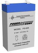 Power-Sonic PS-628 Battery